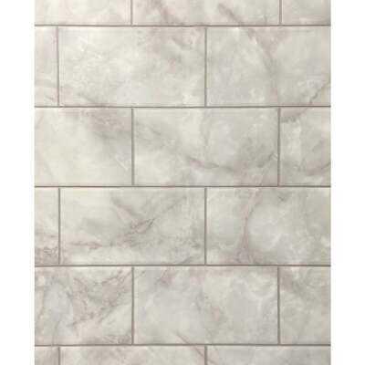 DPI 4 Ft. x 8 Ft. x 1/8 In. Gray Marble Kingsbridge Wall Tile