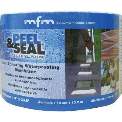 MFM Peel & Seal 4 In. X 33.5 Ft. Aluminum Roofing Membrane