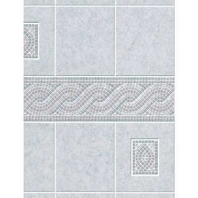 DPI AquaTile 4 Ft. x 8 Ft. x 1/8 In. Gray Encinitas Tileboard Wall Tile