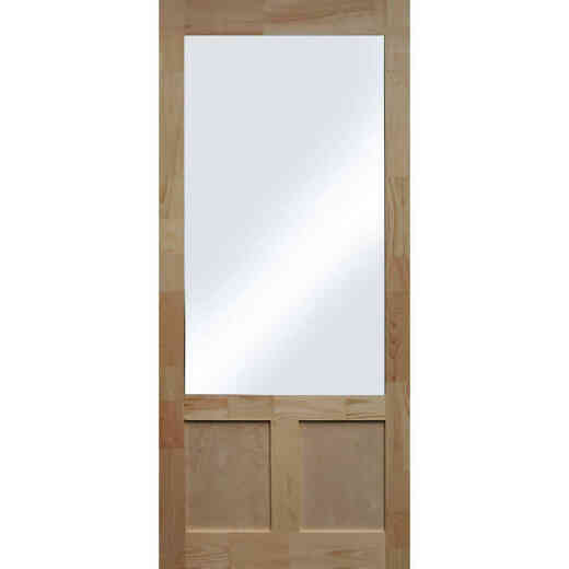 Snavely Kimberly Bay Elmwood 36 In. W x 80 In. H x 1-3/8 In. Thick Natural Pine Wood Screen Door