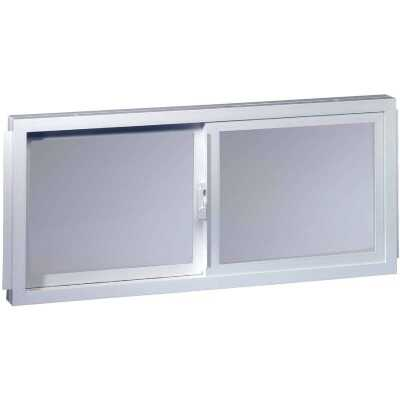 Northview Aspen Glider 32 In. W. x 19-1/4 In. H. White PVC Basement Window