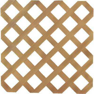 Dimensions 4 Ft. W x 8 Ft. L x 1/8 In. Thick Cedar Colored Vinyl Lattice Panel