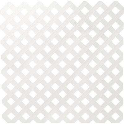 Dimensions 4 Ft. W x 8 Ft. L x 3/16 In. Thick White Vinyl Privacy Lattice Panel