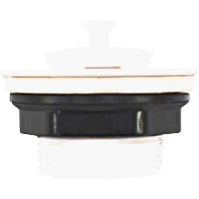 United States Hardware 1-1/2 In. White Plastic Bathtub Drain Stopper for Mobile Homes