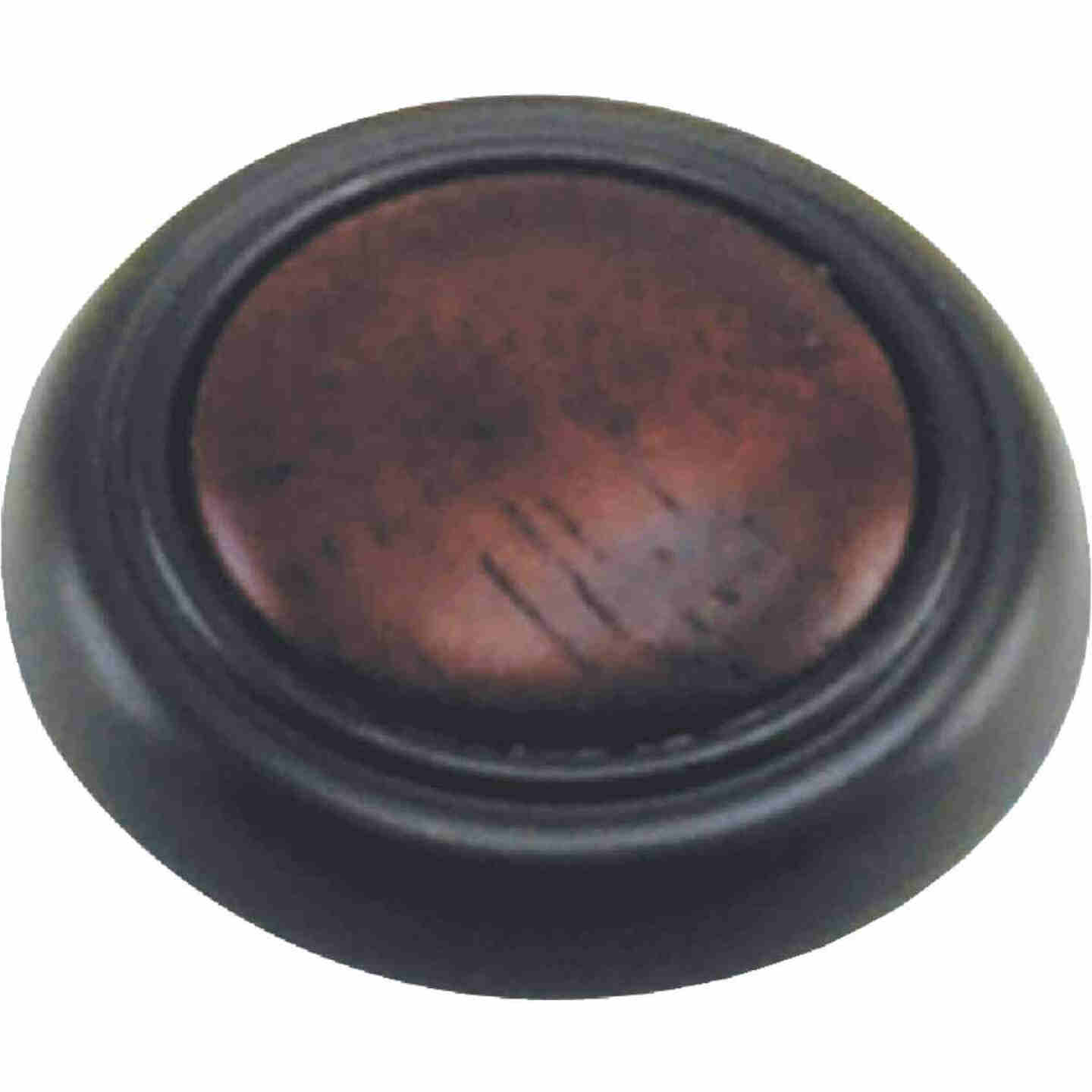 Laurey Oil Rubbed Bronze & Cherry Accent 1-1/4 In. Cabinet Knob Image 1