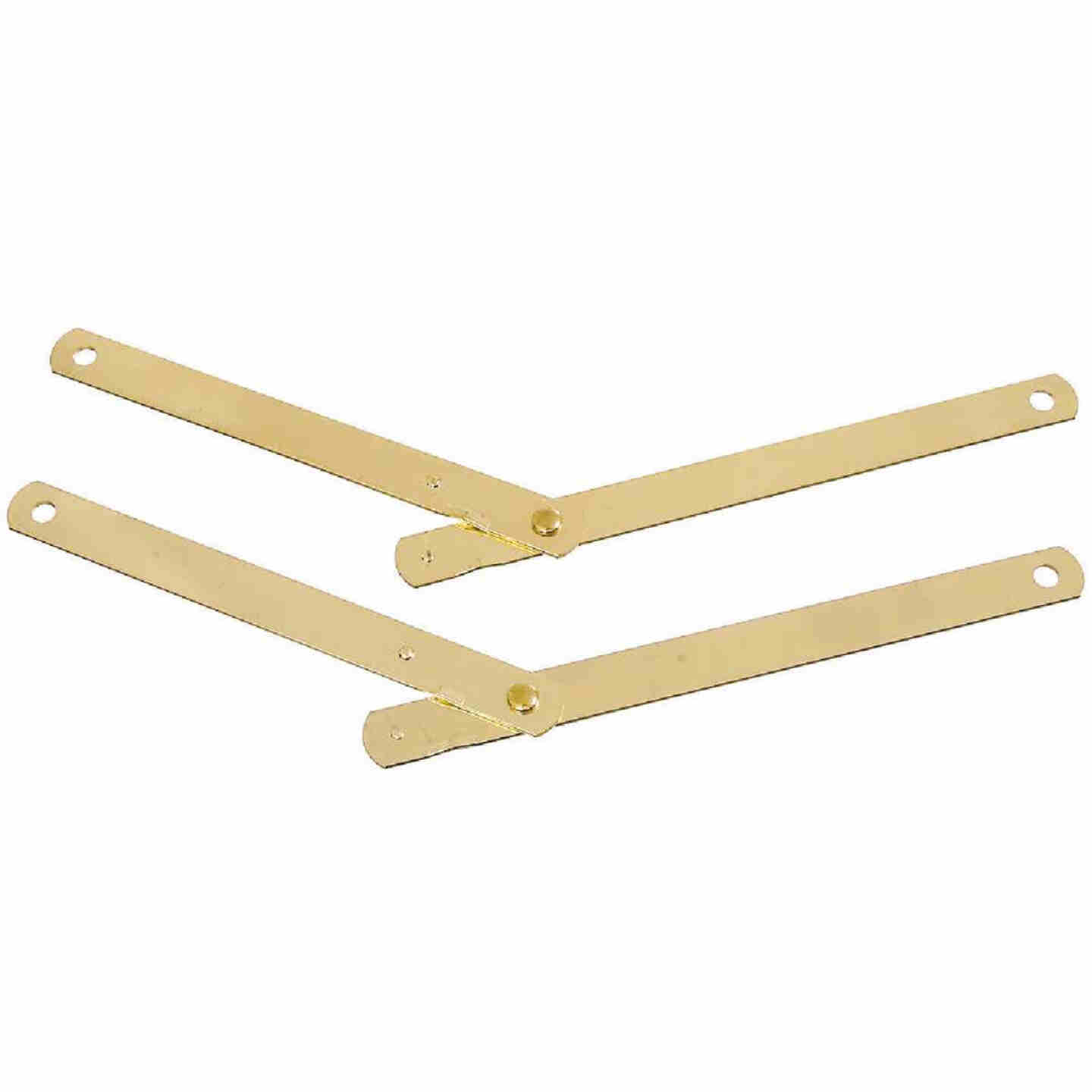 National Steel 9-1/2 In. Brass Table Leg Support,(2-Pack) Image 1