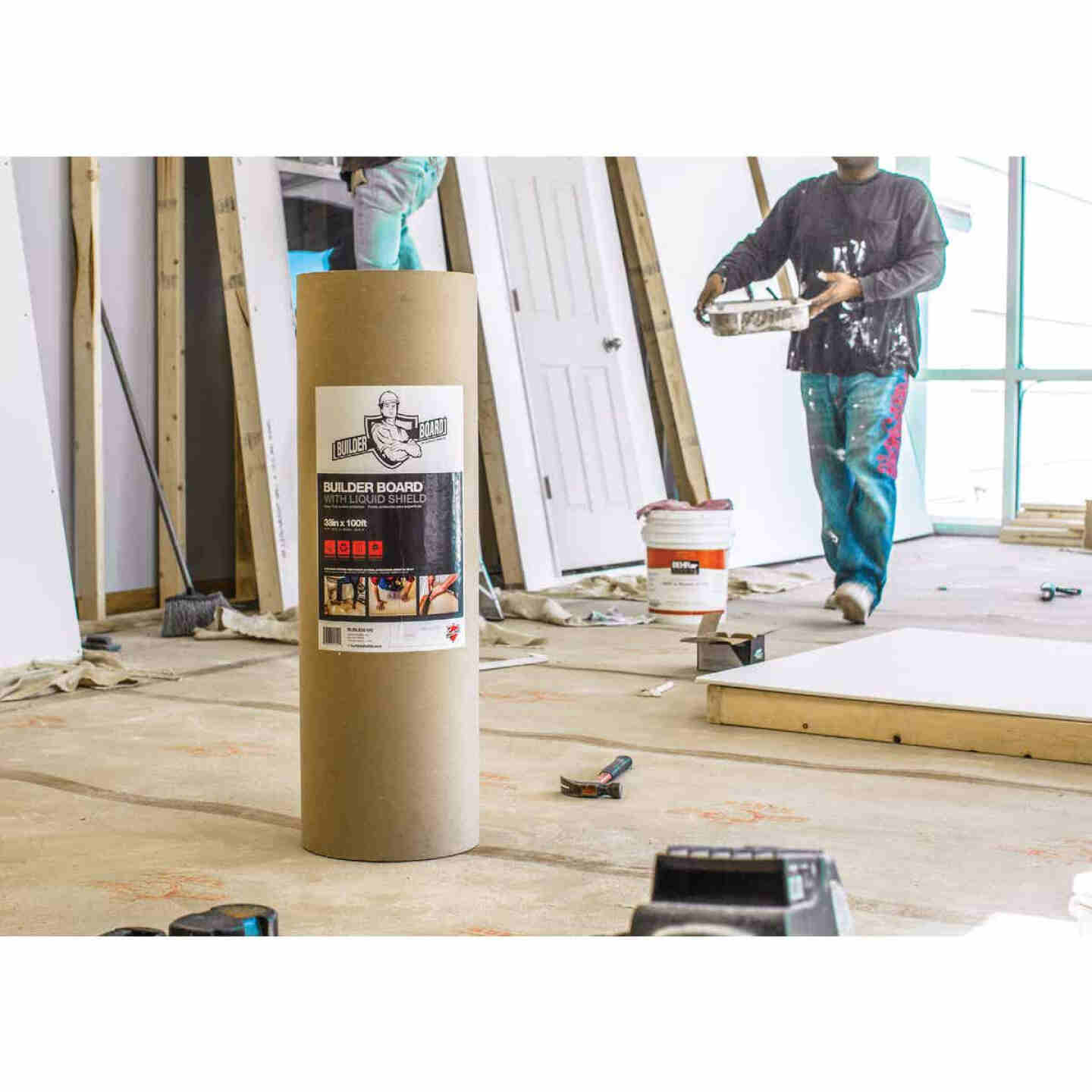 Surface Shields Builder Board 38 In. x 100 Ft. Floor Protector Image 2