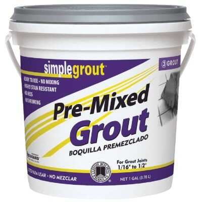 Custom Building Products Simplegrout Gallon Alabaster Pre-Mixed Tile Grout