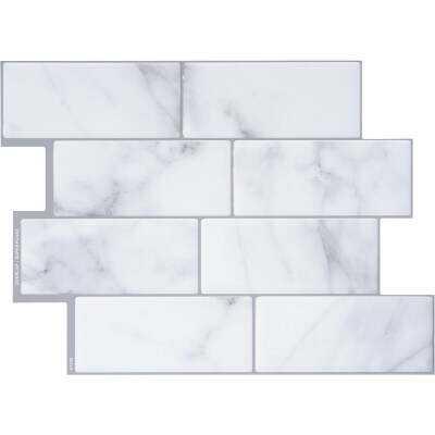 Smart Tiles Approx. 9 In. x 11 In.. Glass-Like Vinyl Backsplash Peel & Stick, Metro Carrera Mosaic (4-Pack)