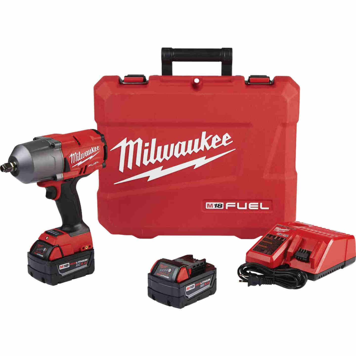 Milwaukee M18 FUEL 18-Volt Lithium-Ion Brushless 1/2 In. High Torque Cordless Impact Wrench Kit with Friction Ring Kit Image 1
