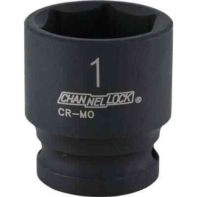 Channellock 1/2 In. Drive 1 In. 6-Point Shallow Standard Impact Socket