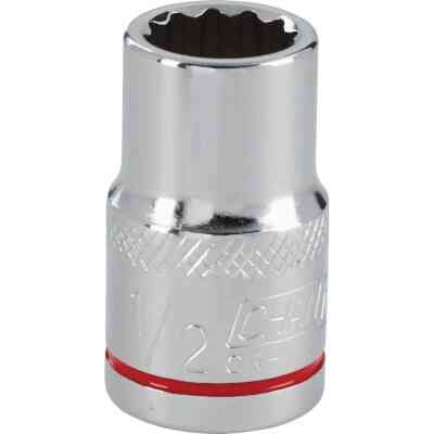 Channellock 1/2 In. Drive 1/2 In. 12-Point Shallow Standard Socket