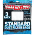 Channellock Paper Standard 12 to 16 Gal. Filter Vacuum Bag (3-Pack) Image 2
