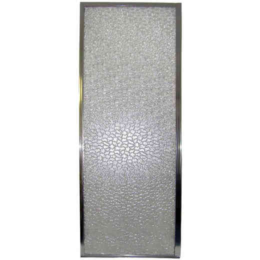 Mustee Durastall 28 In. W. X 64 In. H. Chrome Opaque Glass Hinged Shower Door