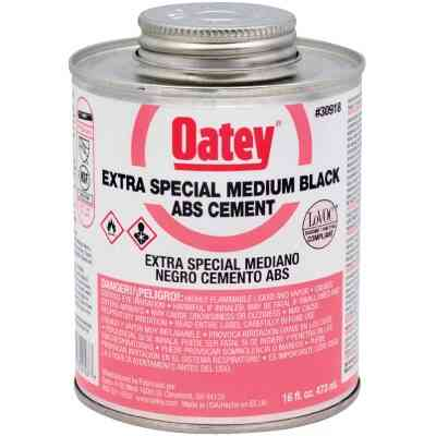 Oatey 16 Oz. Medium Bodied Black Extra Special ABS Cement