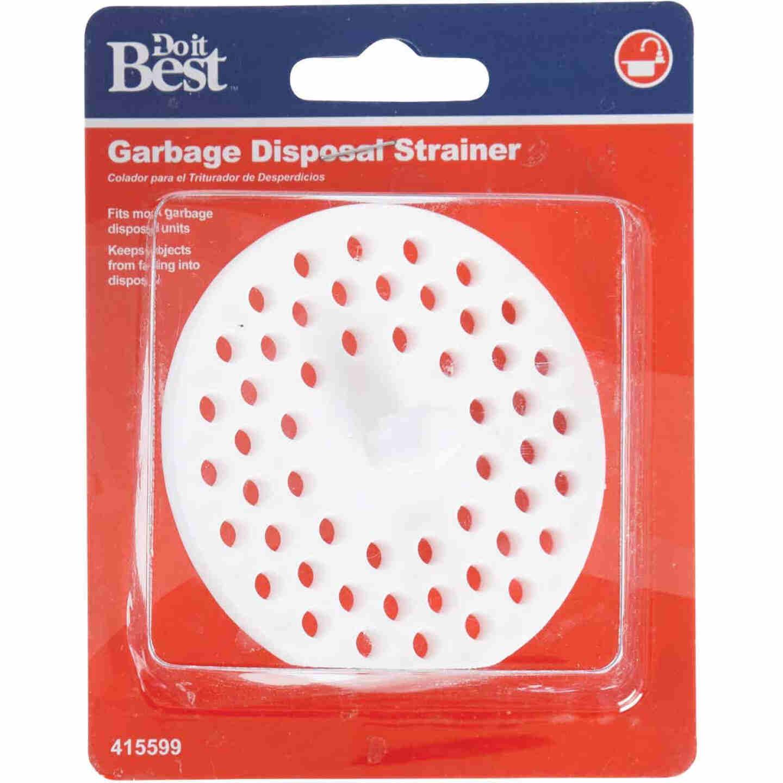 Do it 3-1/8 In. Dia White Plastic Garbage Disposer Strainer Image 2