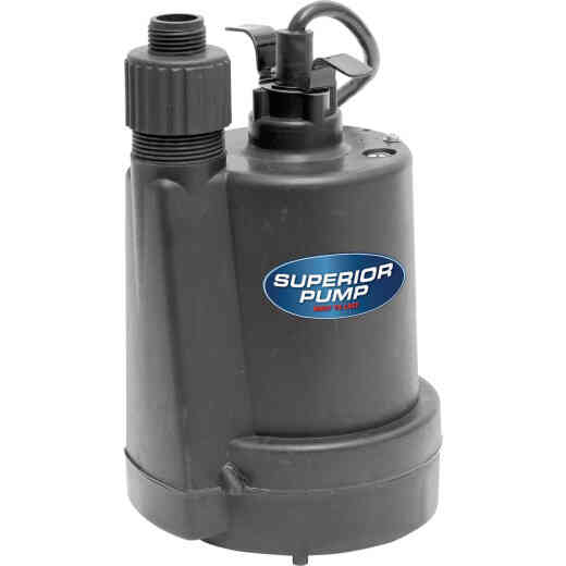 Superior Pump 1/4 HP 1800 GPH Thermoplastic Submersible Utility Pump
