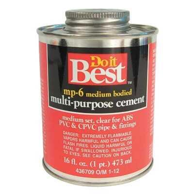 Do it Best 16 Oz. Medium Bodied Clear Multi Purpose Solvent Cement