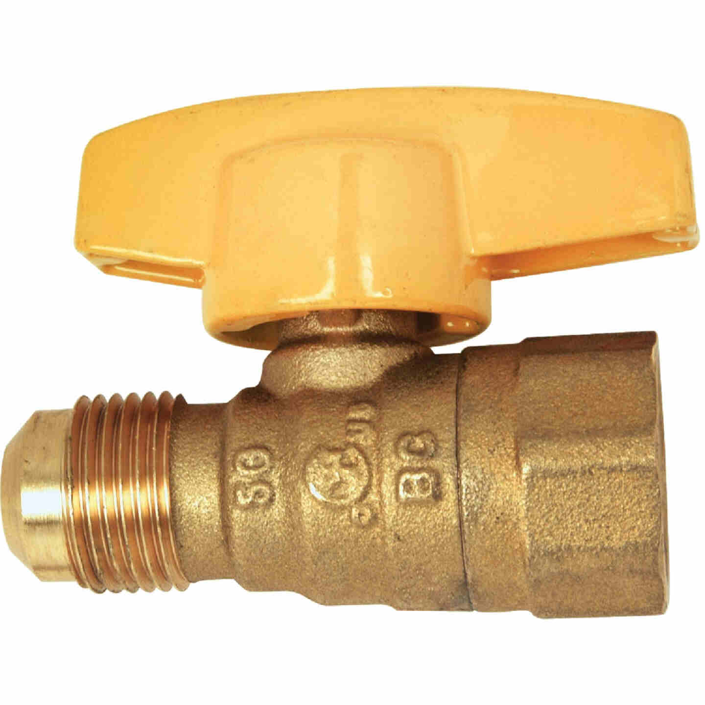 Dormont 1/2 In. OD Male Flare x 1/2 In. FIP Forged Brass Gas Shutoff Valve Image 1