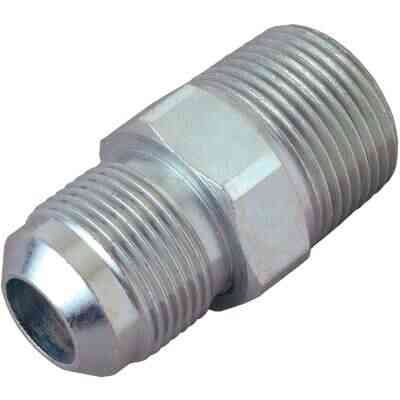 Dormont 1/2 In. OD Flare x 1/2 In. MIP (tapped 3/8 In. FIP) Brass Adapter Gas Fitting