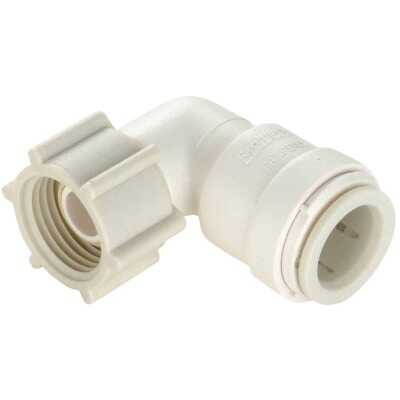 Watts 3/8 In. CTS x 1/2 In. FPT 90 Deg. Quick Connect Plastic Elbow (1/4 Bend)