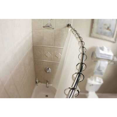 Moen Curved 54 In. To 72 In. Adjustable Fixed Shower Rod in Chrome