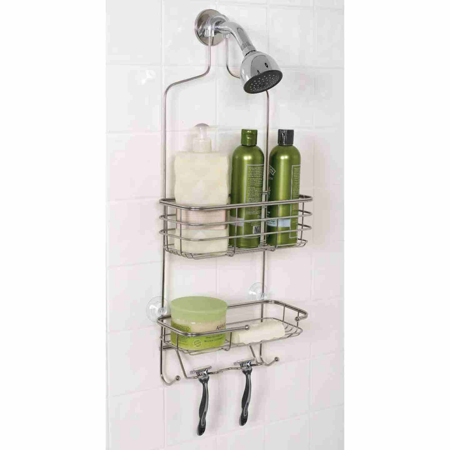 Zenith Zenna Home Stainless Steel 10-1/4 In. x 24-3/4 In. Shower Caddy Image 1