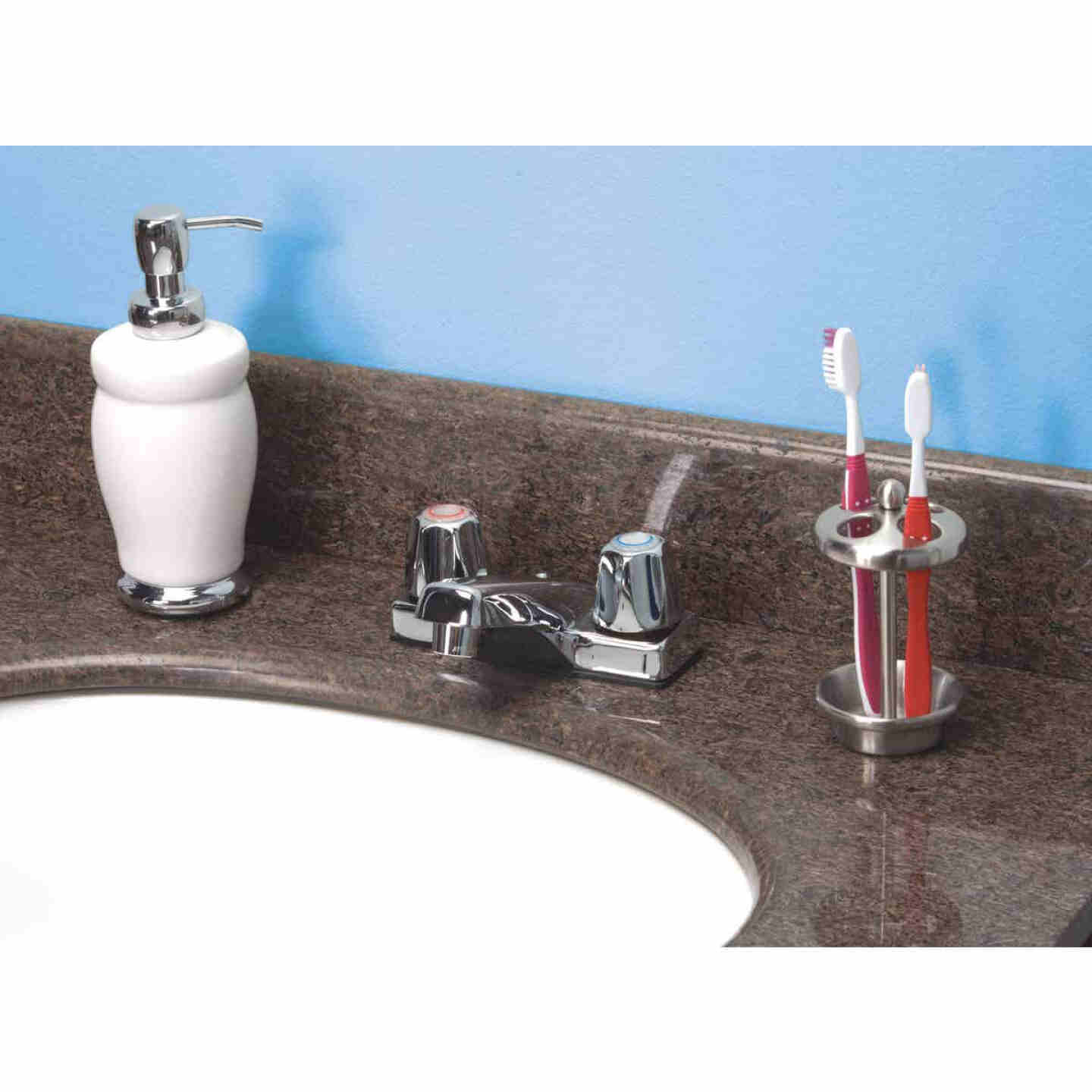 Home Impressions Chrome 2-Handle Lever 4 In. Centerset Bathroom Faucet Image 2