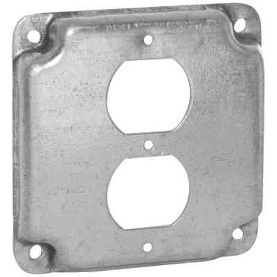 Raco Duplex Receptacle 4 In. x 4 In. Square Device Cover