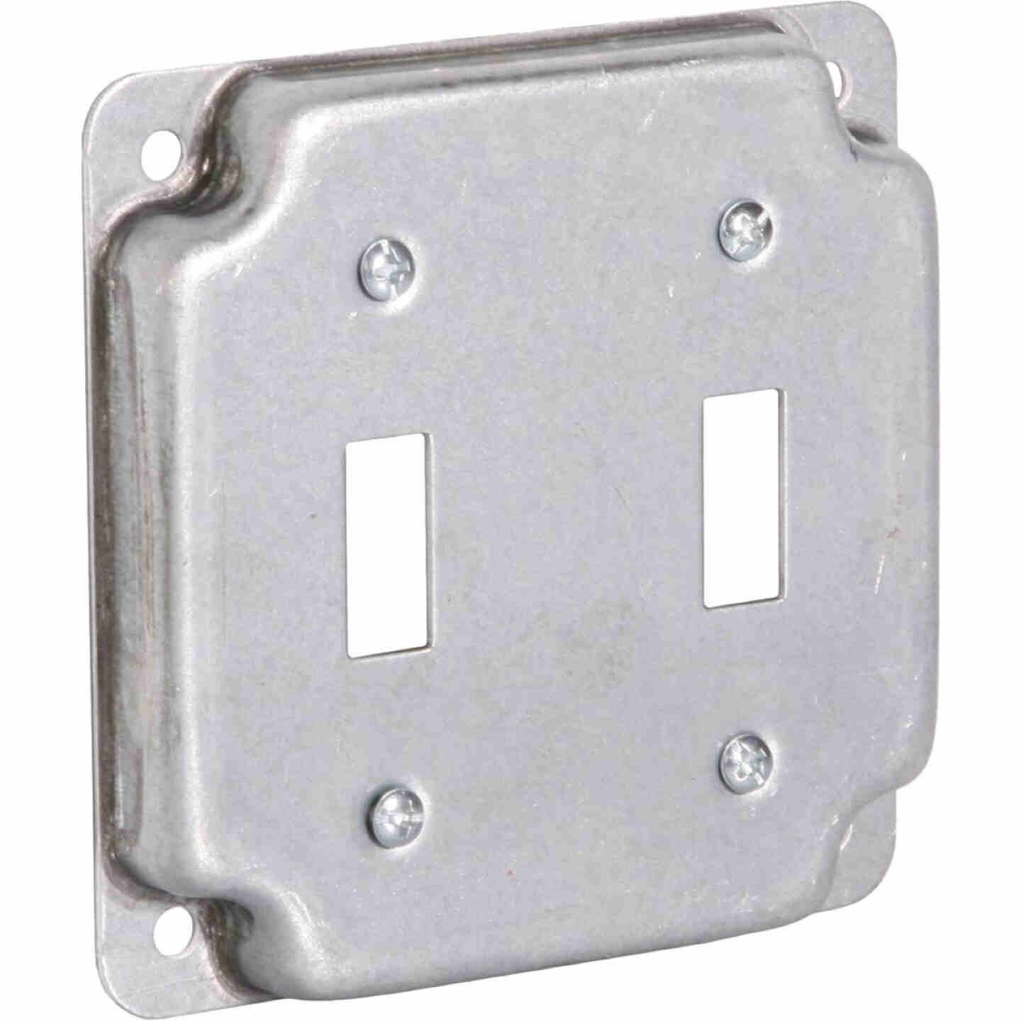 Raco 2-Toggle Switch 4 In. x 4 In. Square Device Cover Image 1