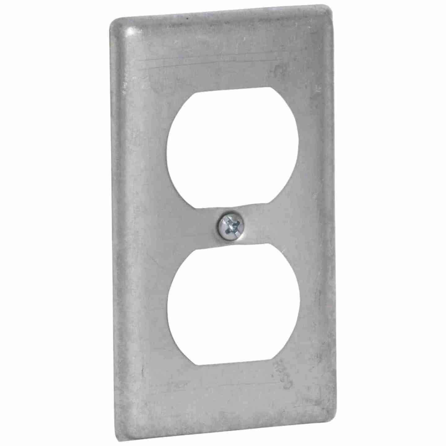 Raco Duplex Receptacle 4 In. x 2-1/8 In. Handy Box Cover Image 1