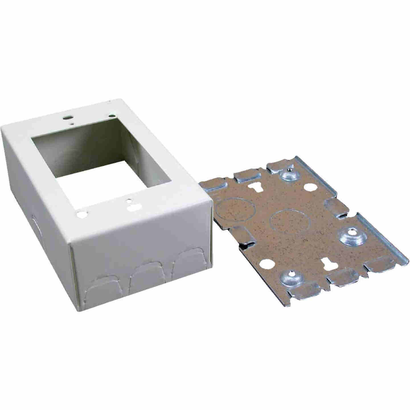Wiremold Ivory Steel 1-3/4 In. Outlet Box Image 1