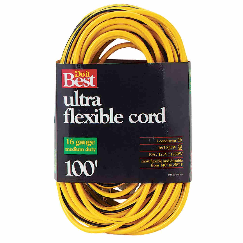 Do it Best 100 Ft. 16/3 Medium-Duty Extension Cord Image 1