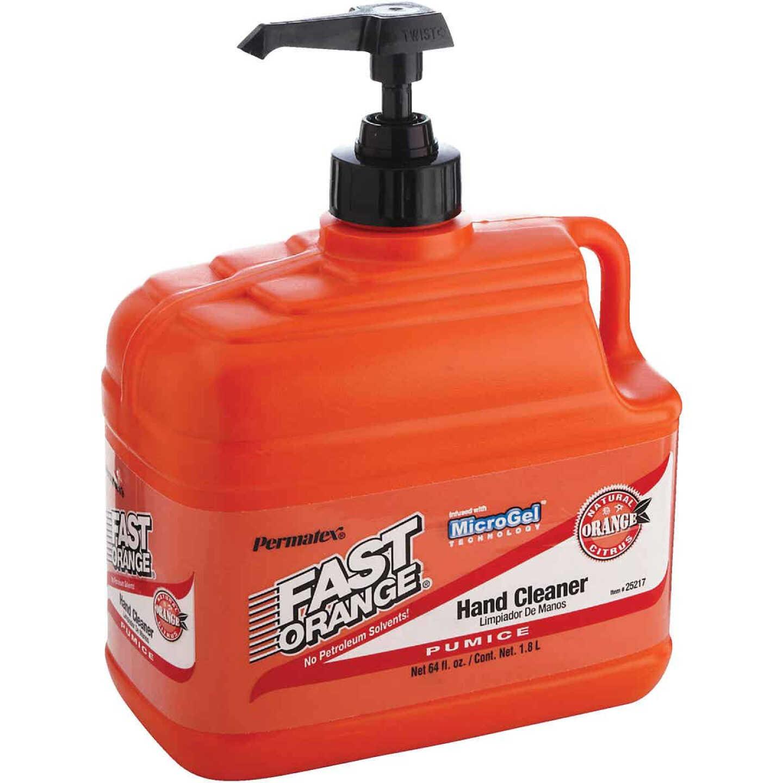 PERMATEX Fast Orange Pumice Orange Citrus Hand Cleaner, 1/2 Gal.  Image 1