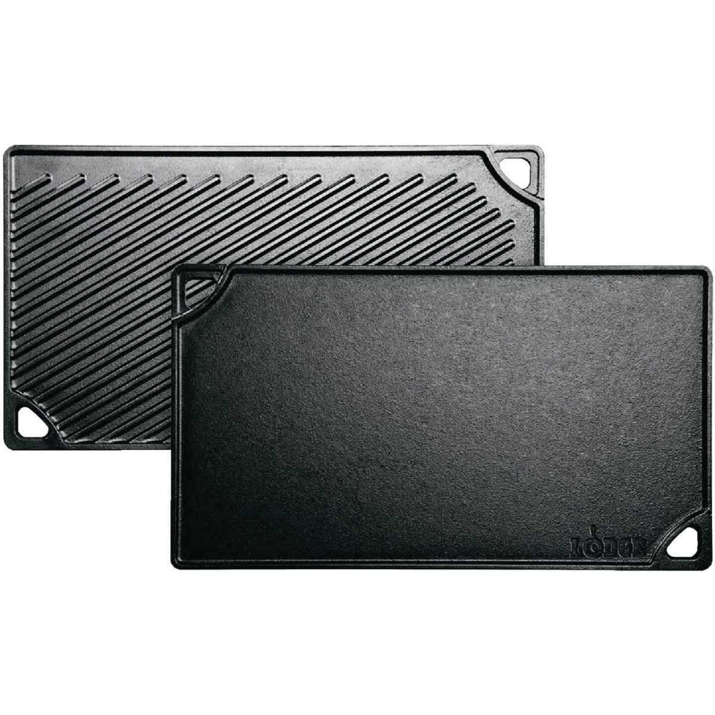 Lodge 9.5 In. x 16.75 In. Cast Iron Griddle Grill Image 1