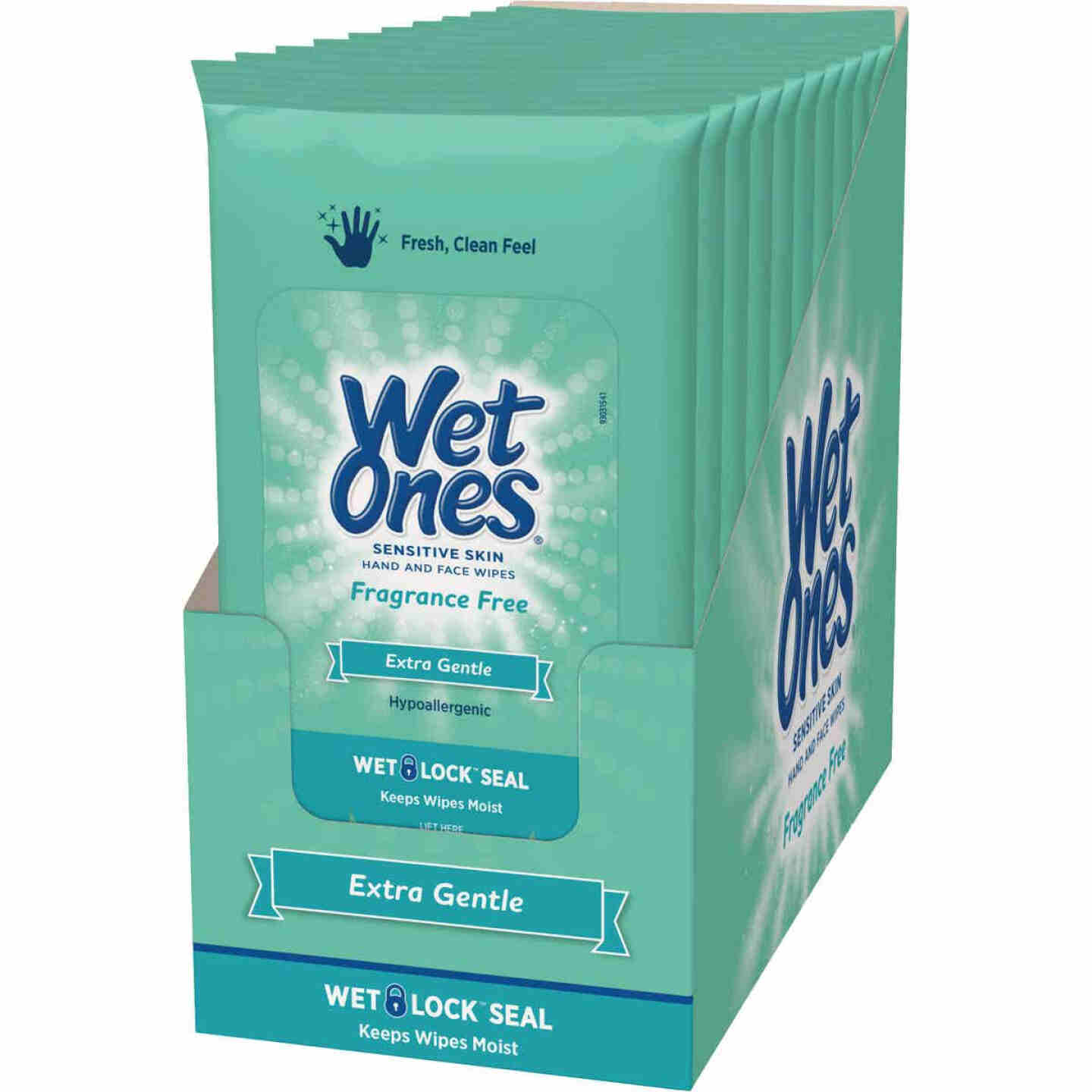 Wet Ones Fragrance-Free Sensitive Skin Travel Pack Hand & Face Cleaning Wipes (20-Count) Image 3