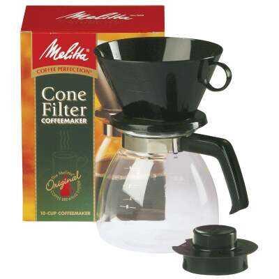 Melitta 10 Cup Drip Cone Black Coffee Maker