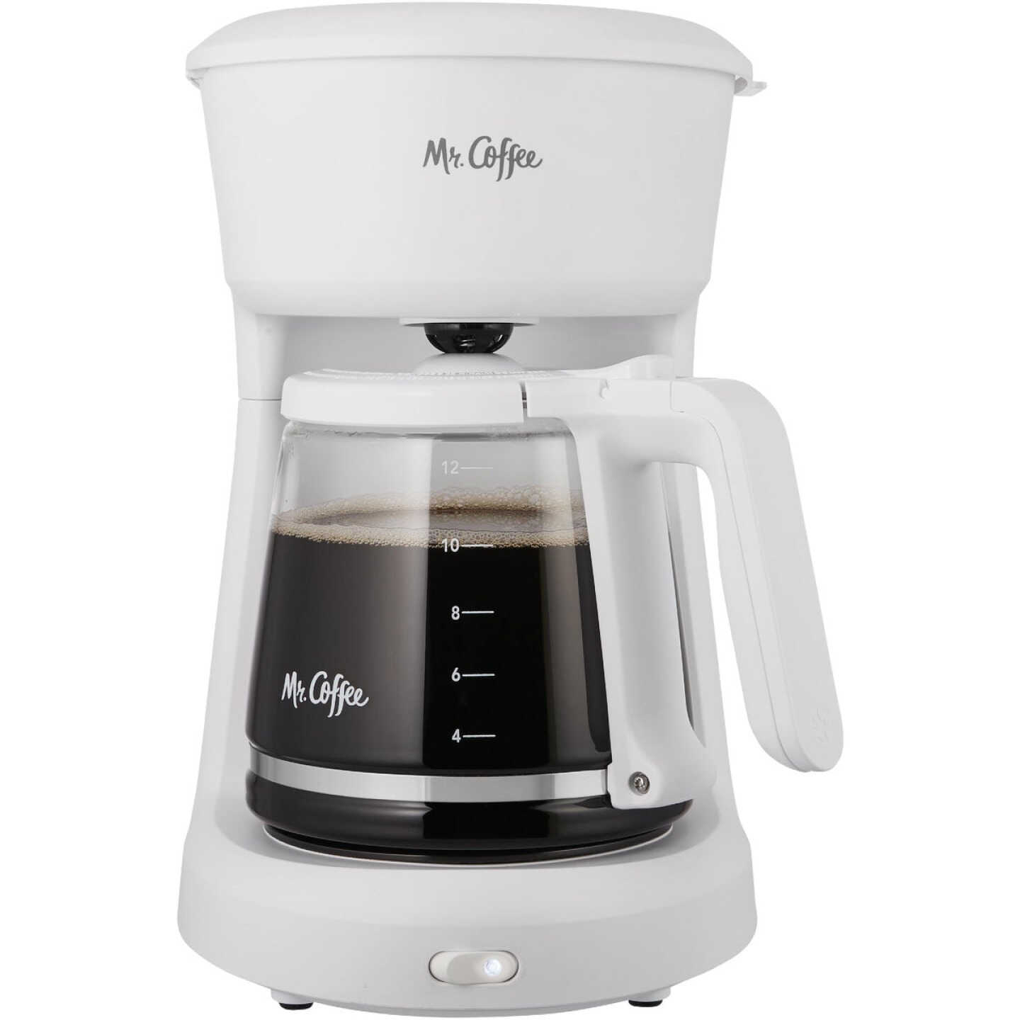 Mr Coffee 12 Cup Switch White Coffee Maker Image 1