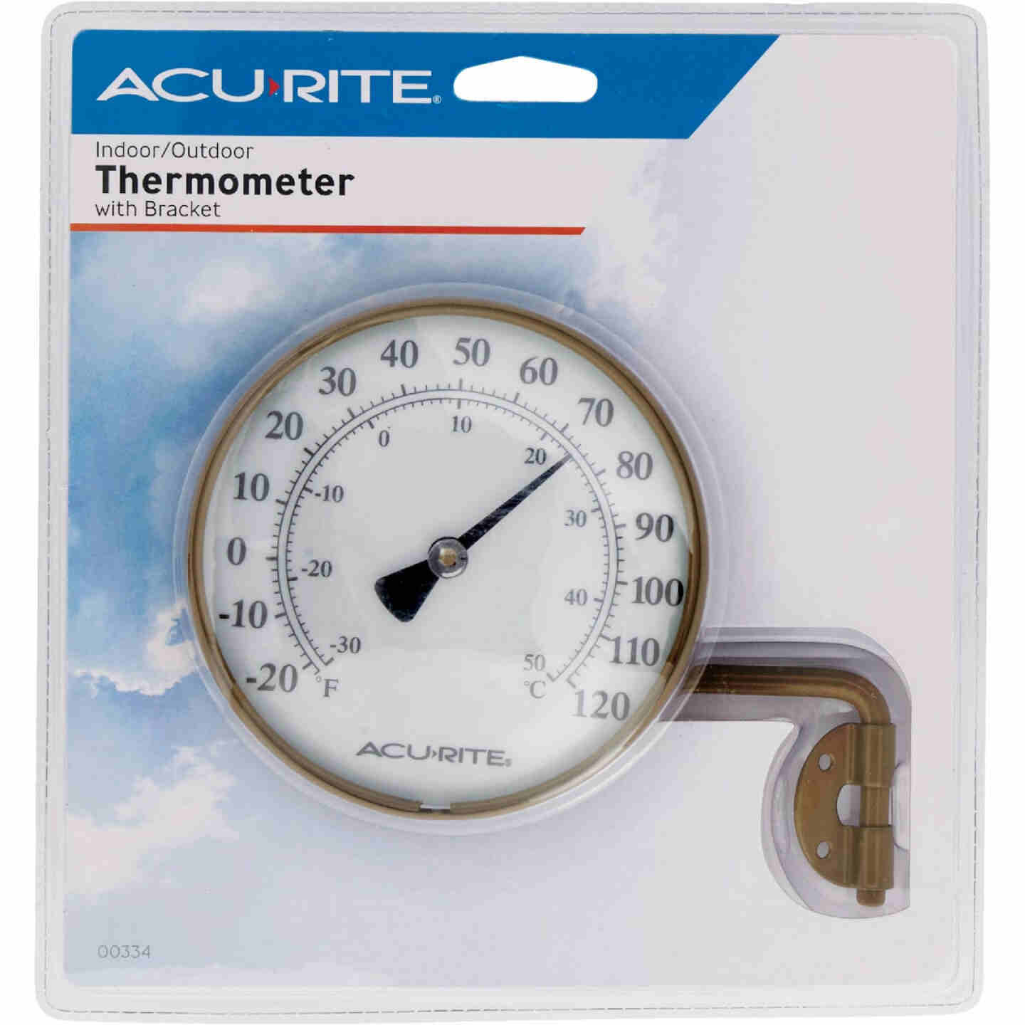 Acurite 4 In. Dia. Metal Dial Indoor & Outdoor Thermometer Image 2