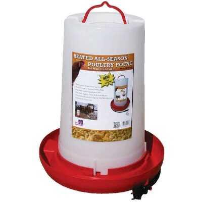 Farm Innovators 3 Gal. Plastic Heated Poultry Fountain