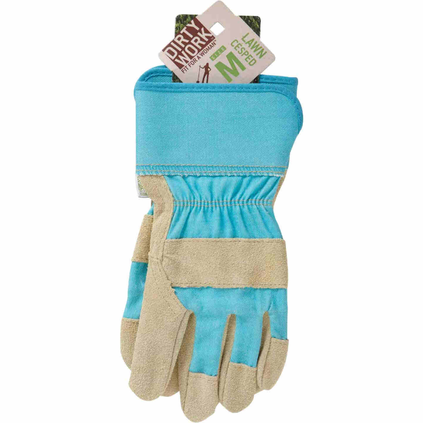 West Chester Protective Gear Dirty Work Women's Medium Leather Work Glove Image 2