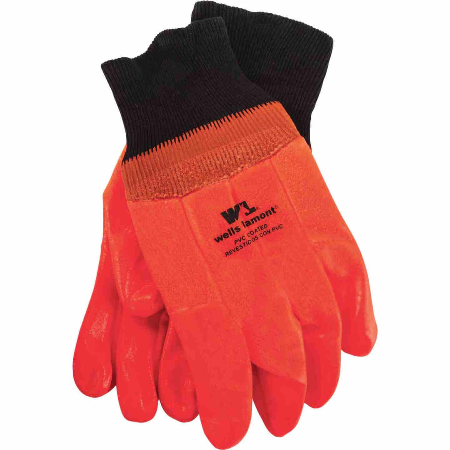 Wells Lamont Men's 1 Size Fits All PVC Coated Cotton Chemical Resistant Winter Glove Image 1