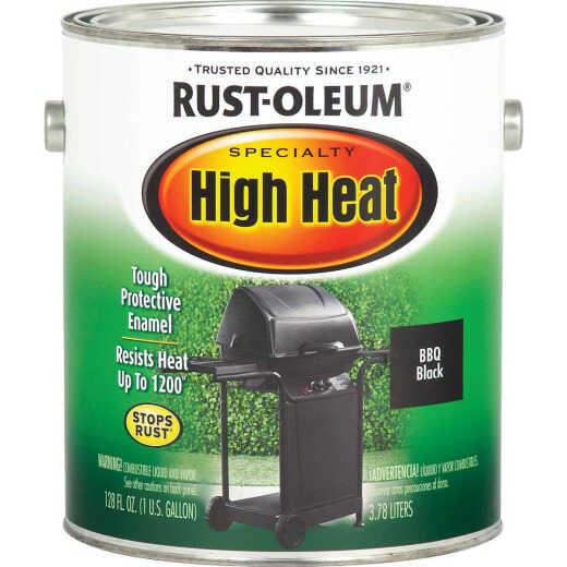 Rust-Oleum Satin High Heat Enamel, BBQ Black, 1 Gal.