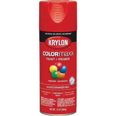 Krylon ColorMaxx 12 Oz. Gloss Spray Paint, Banner Red