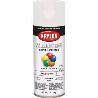 Krylon Colormaxx Matte Spray Paint & Primer, White