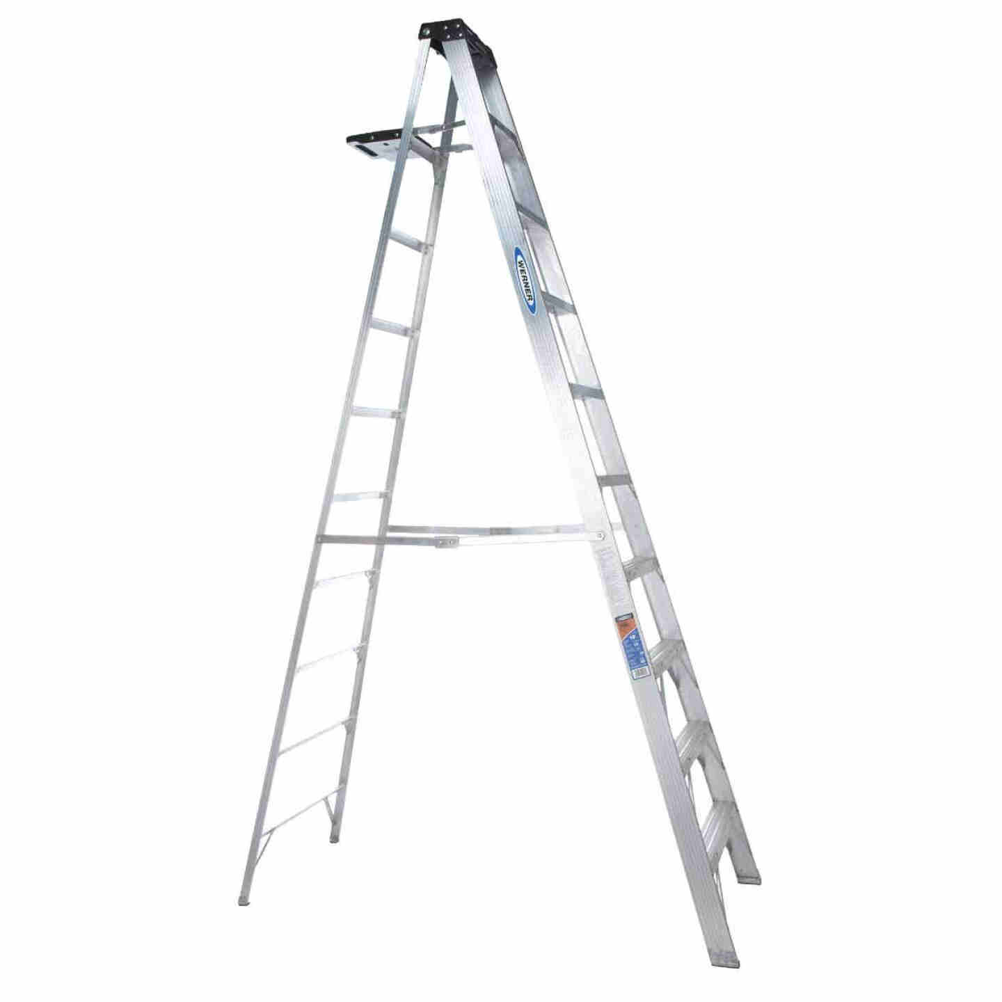 Werner 10 Ft. Aluminum Step Ladder with 300 Lb. Load Capacity Type IA Ladder Rating Image 1