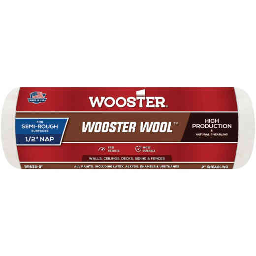 Wooster Wool 9 In. x 1/2 In. Paint Roller Cover