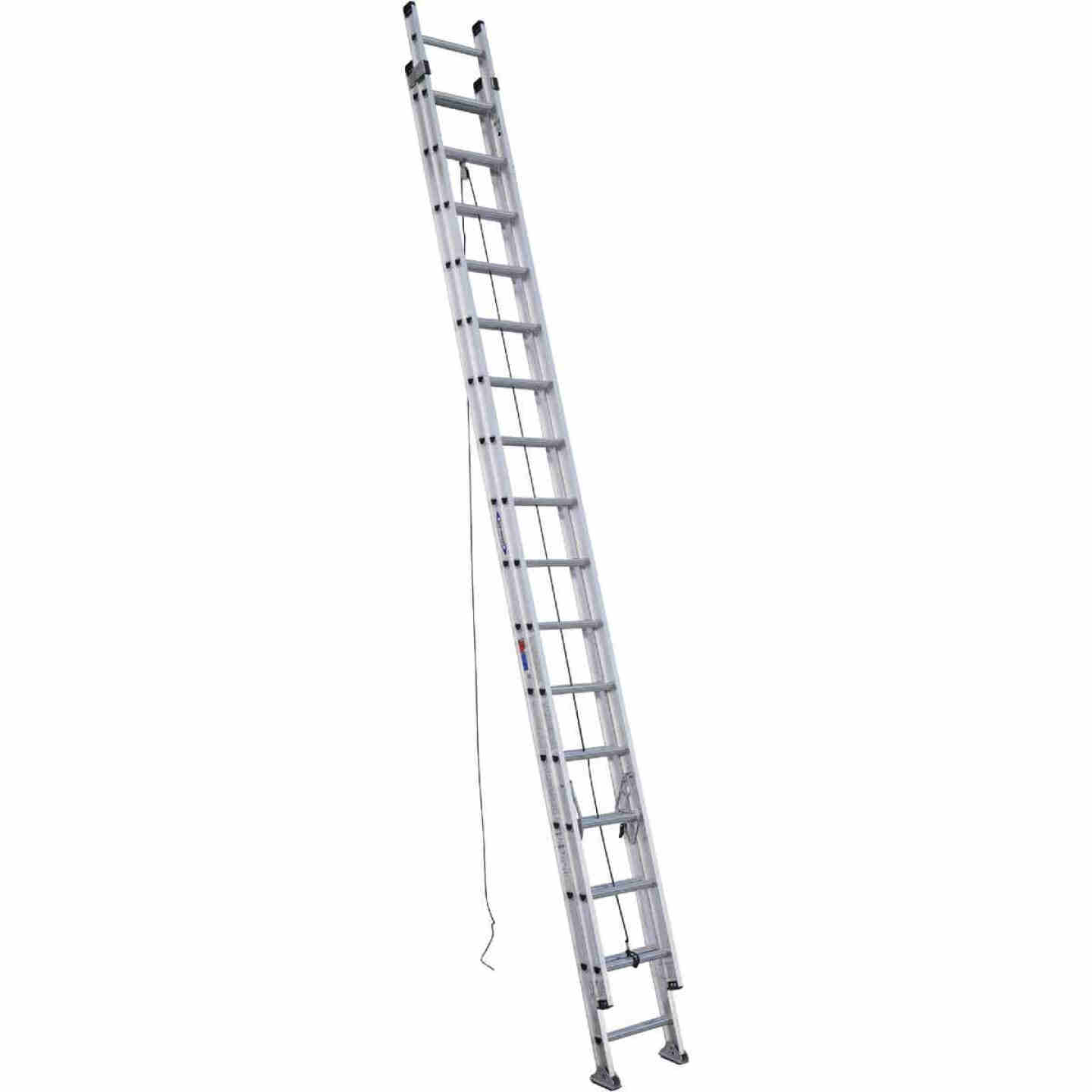Werner 32 Ft. Aluminum Extension Ladder with 300 Lb. Load Capacity Type IA Duty Rating Image 1