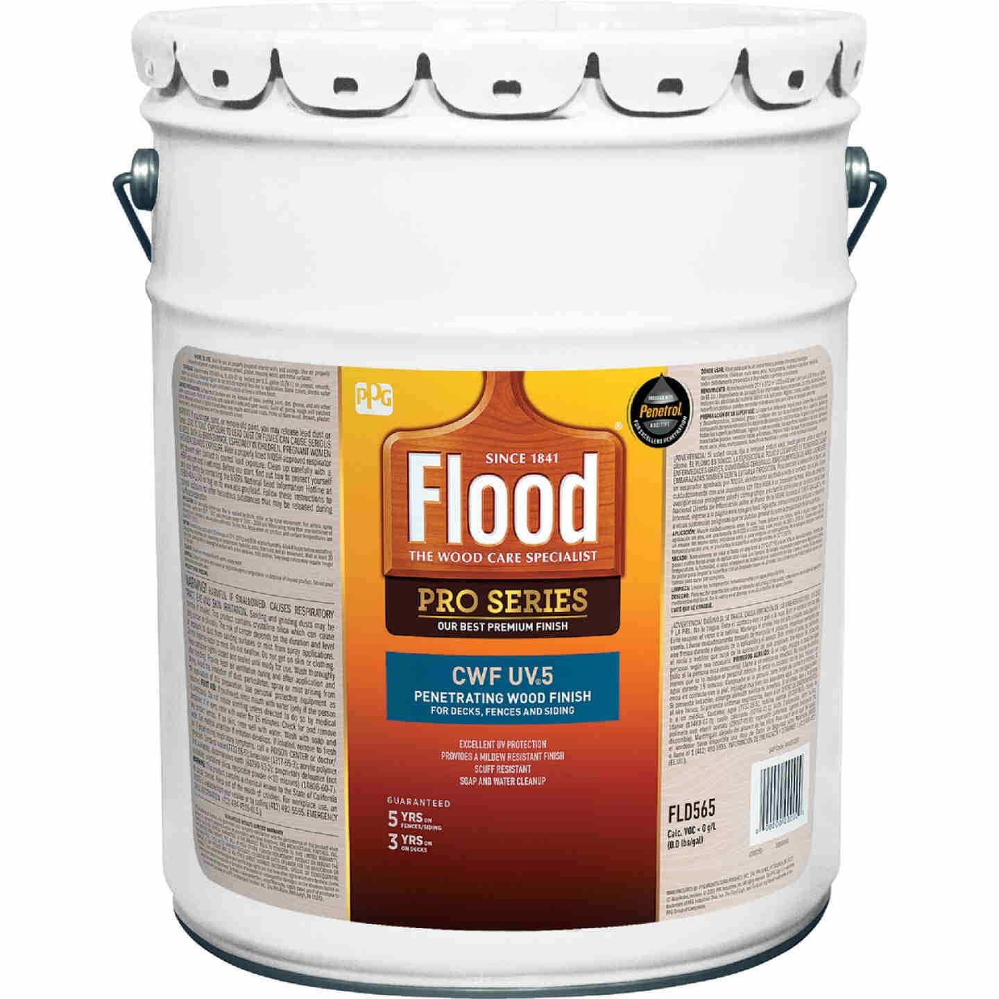 Flood CWF - UV5 Pro Series Wood Finish Exterior Stain, Natural, 5 Gal. Image 1