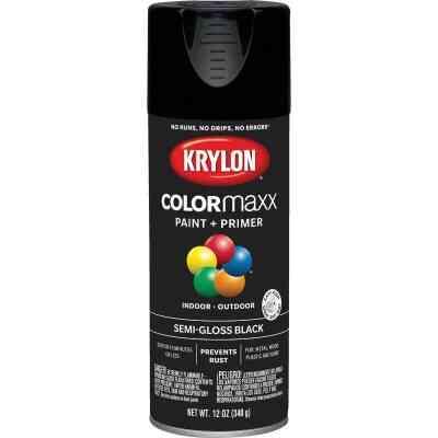 Krylon ColorMaxx 12 Oz. Semi-Gloss Spray Paint, Black